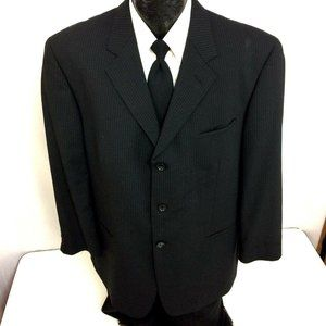 Wilkes-Rodriguez Mens Suit Jacket Pin Stripe